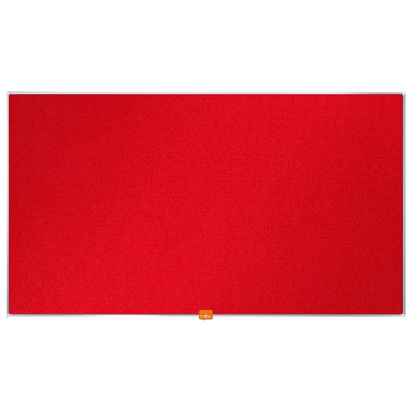 Nobo Widescreen 40inch Red Felt Noticeboard 890x500mm 1905311