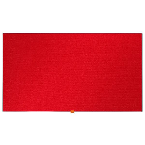 Nobo Widescreen 55inch Red Felt Noticeboard 1220x690mm 1905312