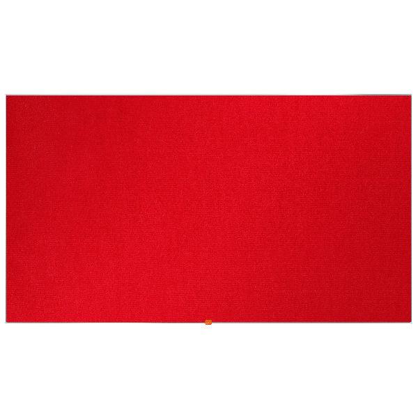 Nobo Widescreen 85inch Red Felt Noticeboard 1880x1060mm 1905313
