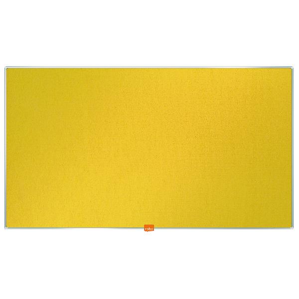 Nobo Widescreen 40inch Yellow Felt Noticeboard 890x500mm 1905319