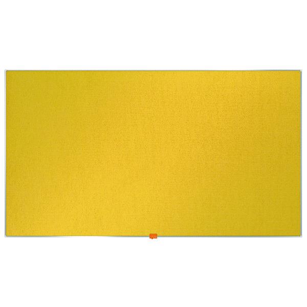 Nobo Widescreen 55inch Yellow Felt Noticeboard 1220x690mm 1905320