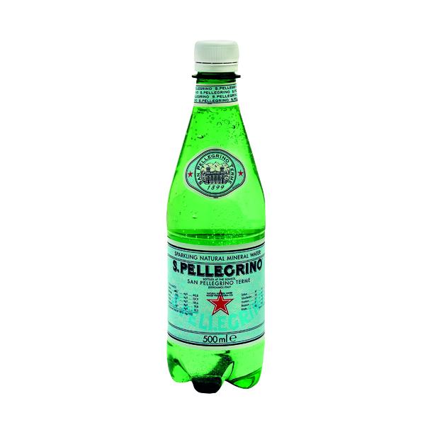 San Pellegrino Sparkling Natural Mineral Water 500ml Bottles (Pack of 24) 12132530