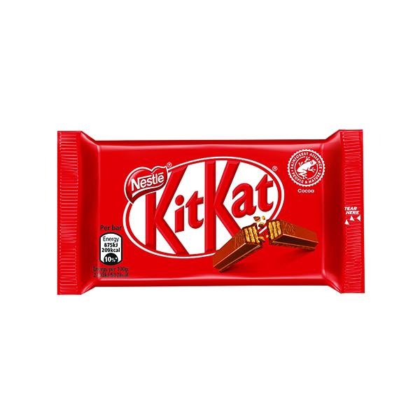 Nestle KitKat Four Finger Milk Chocolate (Pack of 24) 12351222