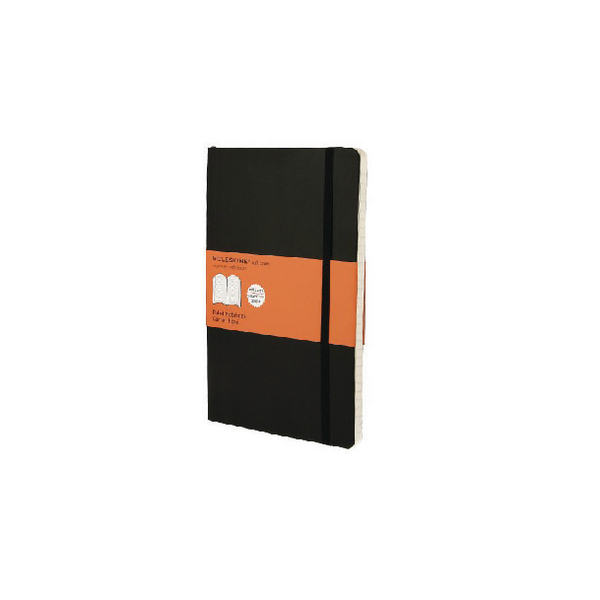 Moleskine Ruled Hardcover Notebook Large Black QP060