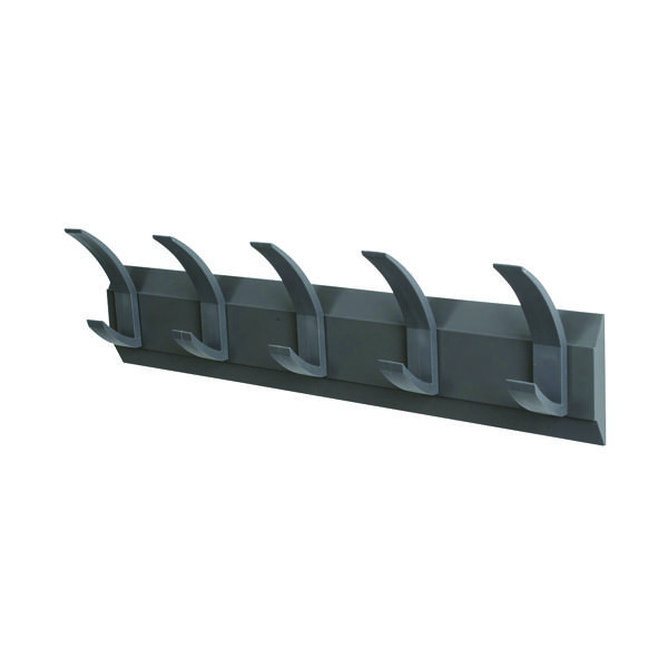 Acorn Wall Mounted Coat Rack With 5 Hooks (Width: 610mm, mounting hardware included) 319875