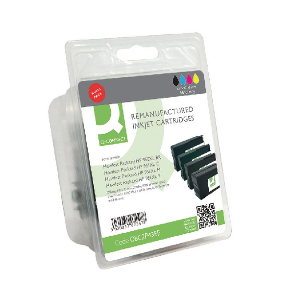 Q-Connect HP 950XL 951XL Ink Cartridge (Pack KCMY (Pack of 4) C2P43AE-COMP