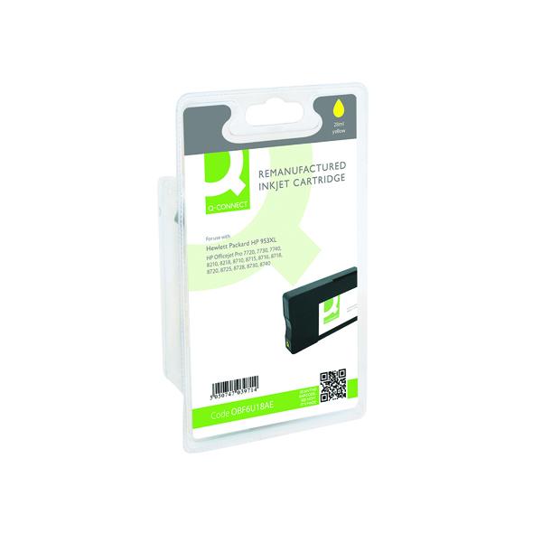 Q-Connect HP 953XL F6U18AE Ink Cartridge Yellow HY F6U18AE-COMP