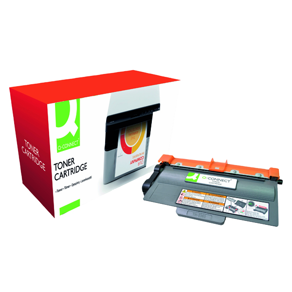 Q-Connect Compatible Solution Brother Black Toner Cartridge High Capacity TN3380