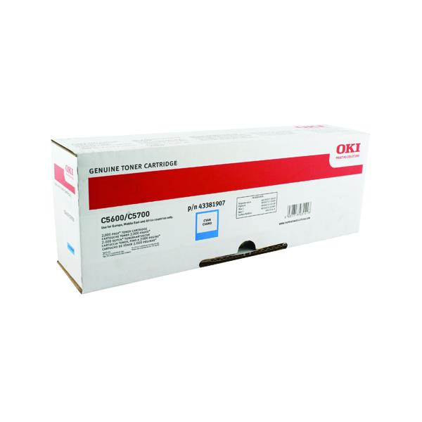 Oki C610 Cyan Toner Cartridge 6K 44315307
