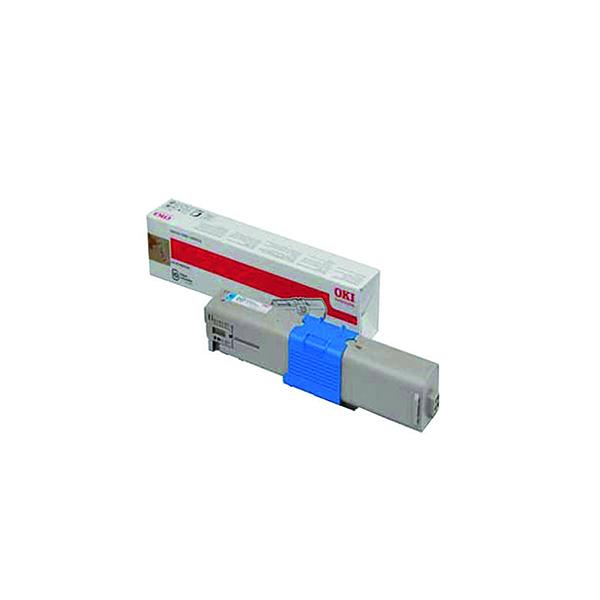 Oki Cyan Toner Cartridge (1,500 Page Capacity) 44973535