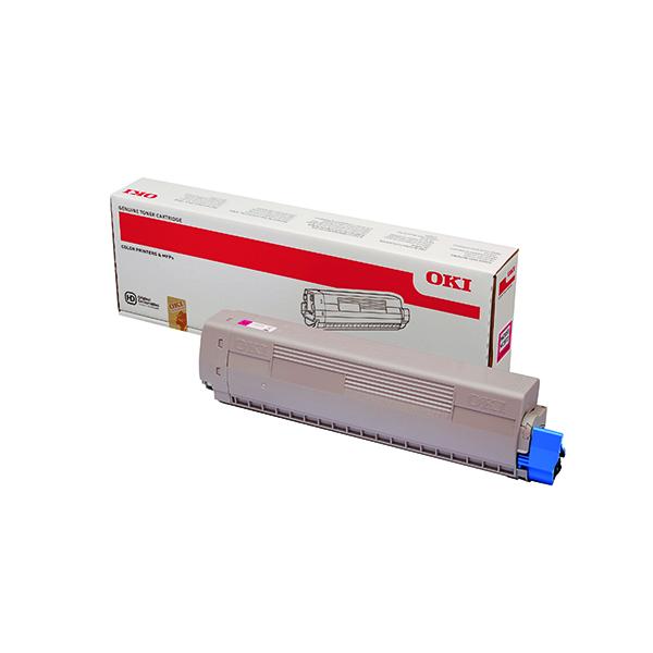 Oki MC853 MC873 7300 Pages Magenta Toner (7300 page capacity) 45862838