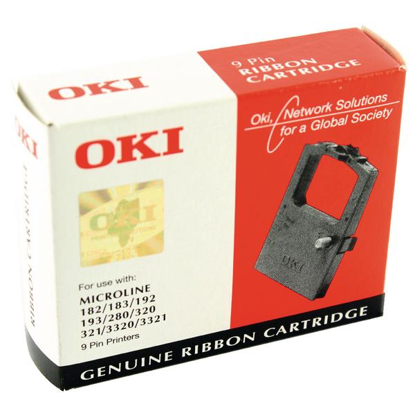 Oki Black Fabric Ribbon For Microline 182/280/320/3320 9002302