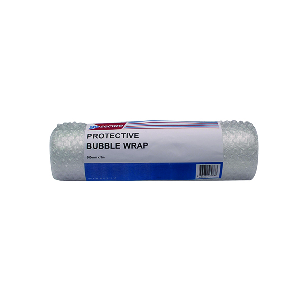 GoSecure Bubble Wrap Roll Small 300mmx3m Clear (Pack of 16) PB02288
