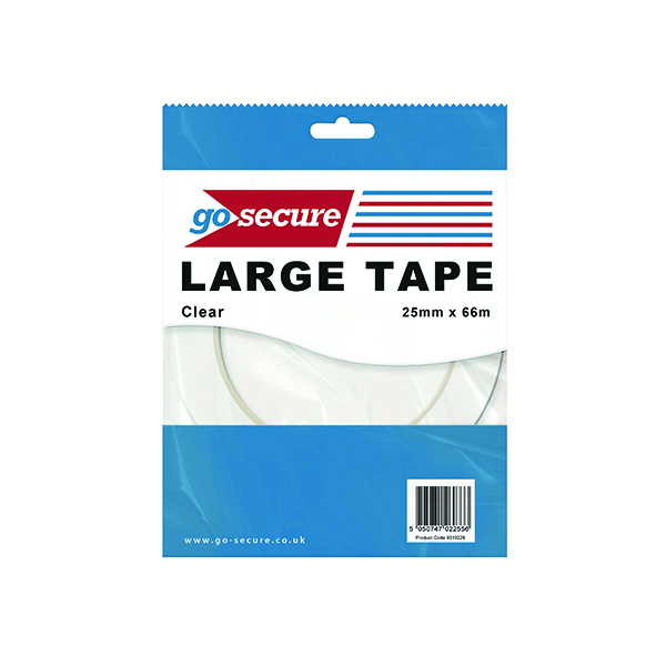GoSecure Large Tape 25mmx66m Clear (Pack of 24) PB02299