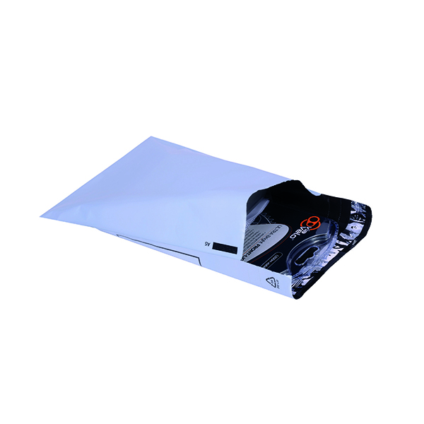 GoSecure Envelope Lightweight Polythene 230x162mm Opaque (Pack of 100) PB11122