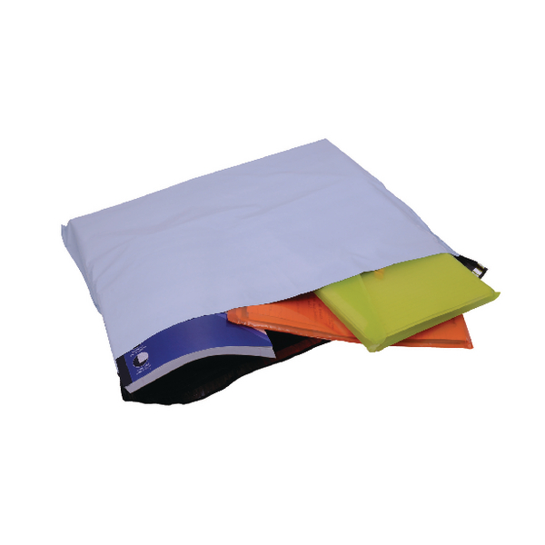 GoSecure Envelope Extra Strong Polythene 595x430mm Opaque (Pack of 100) PB29100