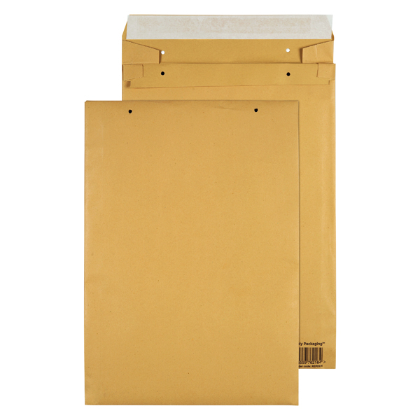 GoSecure Manilla B4 Gusset Pocket Envelope 140gsm (Pack of 100) REPDB4