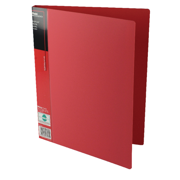 Pentel Recycology Wing A4 20 Pocket Red Display Book (Pack of 10) DCF442B