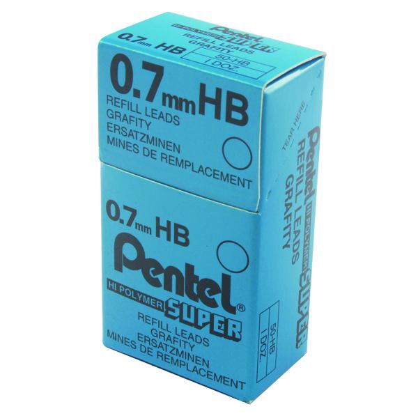 Pentel 0.7mm HB Mechanical Pencil Lead (Pack of 144) 50-HB