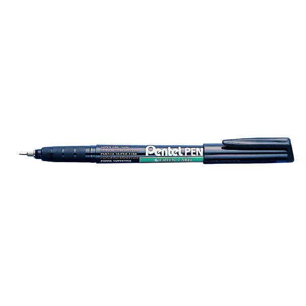 Pentel Permanent Marker Super Fine Black (Pack of 12) NMF50-A