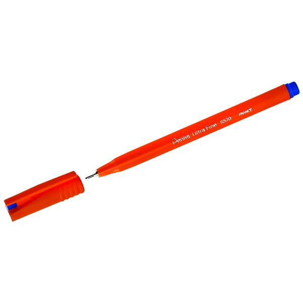 Pentel Ultra Fineliner Blue Pen (Pack of 12) S570-C