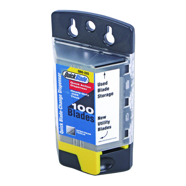 Quick Blade Change Dispenser 100 Blades (For use with Quick Blade Auto Loading Knife) QBD-325