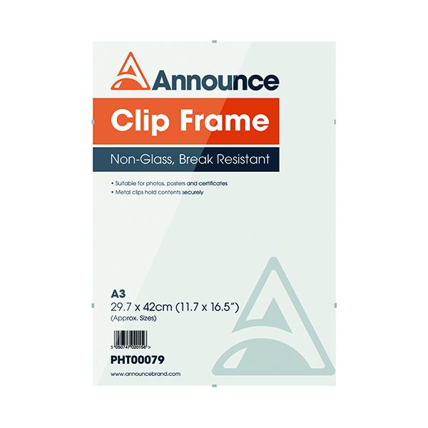 Announce Metal Clip Frame A3 PHT00079