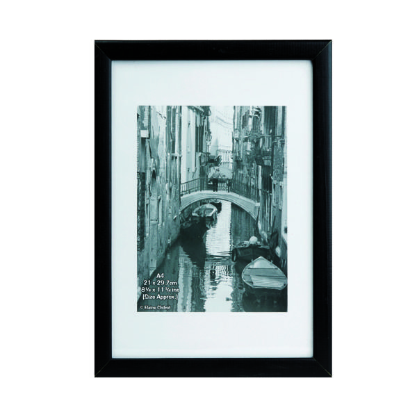 TPAC Photo Black Wood Non-Glass Frame A4 PAWFA4B-BLK