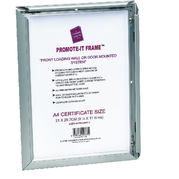 TPAC Photo Promote It Frame A2 Aluminium (Non-glass break-resistant cover) PAPFA2B