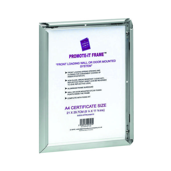 TPAC Photo Promote It Frame A1 Aluminium (Non-glass break-resistant cover) PAPFA1B