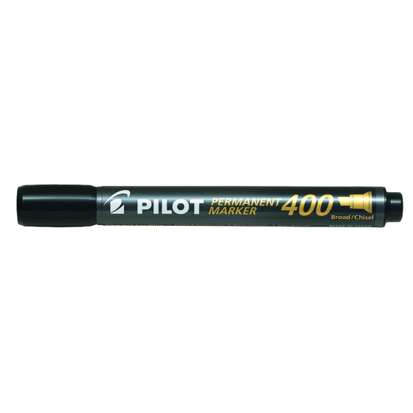 Pilot 400 Permanent Marker Chisel Tip Black (Pack of 20) 3131910504061