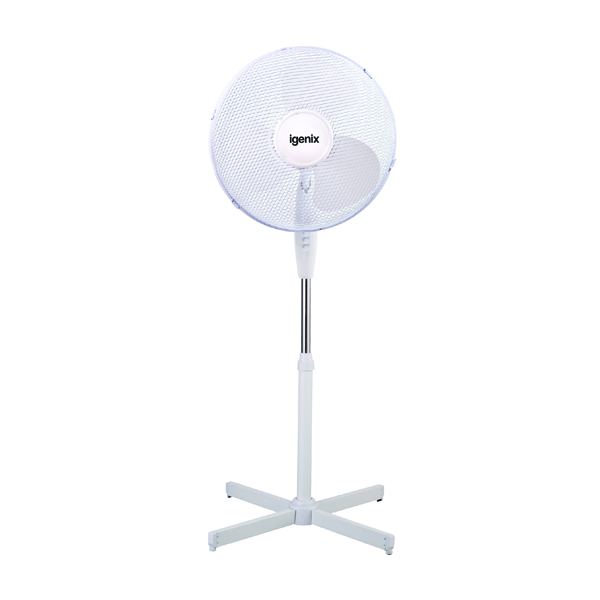 Igenix 16in Pedestal Fan White DF1655