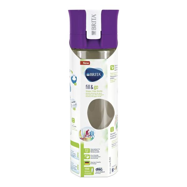 Brita 600ml Vital Water Bottle Purple BA0104