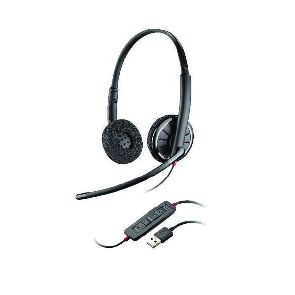 Plantronics C320 M Bin Black Wire Headset Black 85619-01