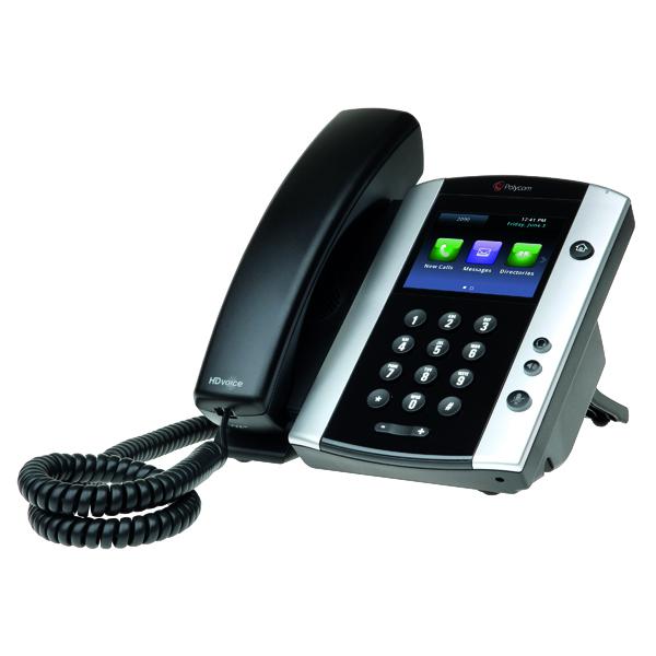Polycom VVX 501 IP Phone 12 Line TFT Black 2200-48500-025