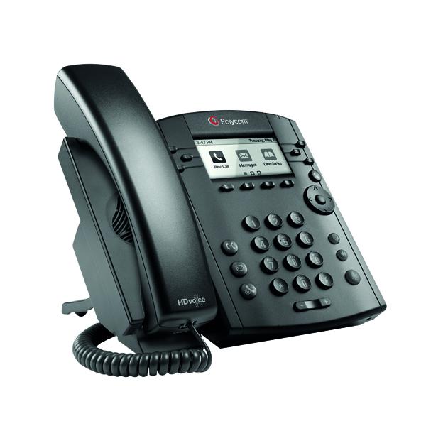 Polycom VVX 311 IP Phone 6 Line LCD Black 2200-48350-025