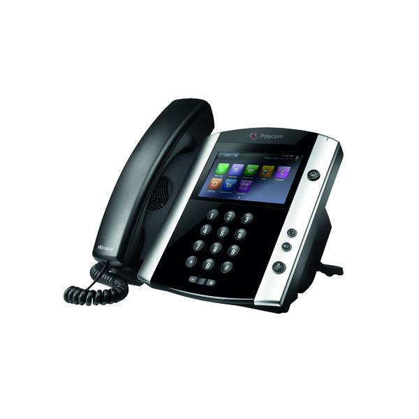 Polycom VVX 600 DECT Phone Black/White 2200-44600-025
