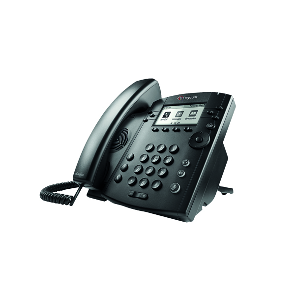 Polycom VVX 301 IP Phone 6 Line LCD Black 2200-48300-025