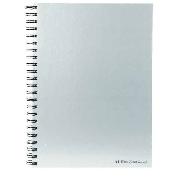 Pukka Pad Silver Ruled Wirebound Notebook 160 Pages A4 (Pack of 5) WRULA4