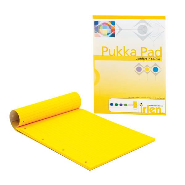 6 x Pukka Pad A4 Refill Pad Gold (100 pages of 80gsm paper) IRLEN50