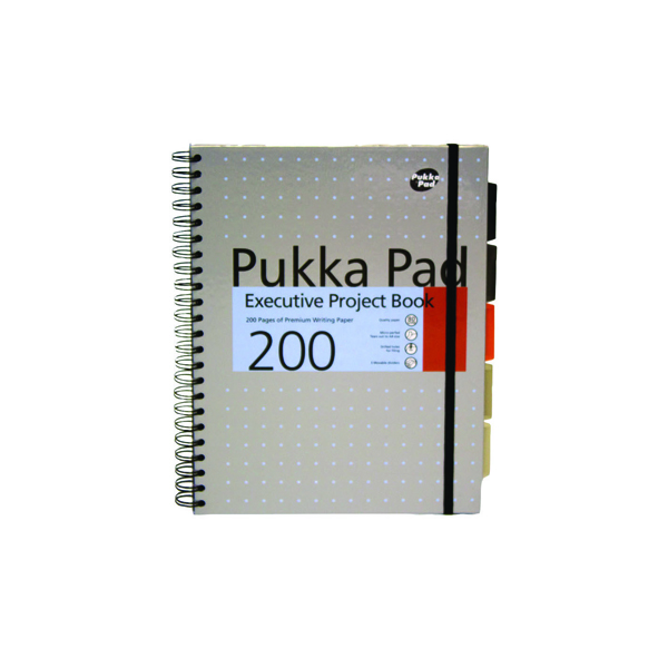 Pukka Pad Executive Ruled Wirebound Project Book A4 (Pack of 3) 6970-MET