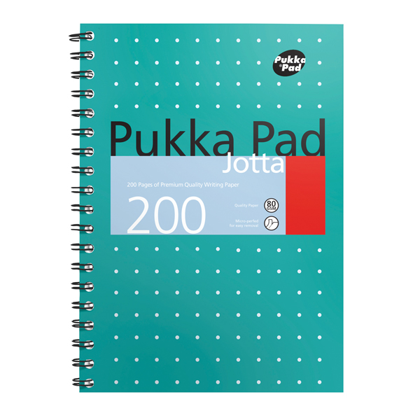 Pukka Pad Metallic Cover Wirebound Jotta Notebook B5 (Pack of 3) 8520-MET
