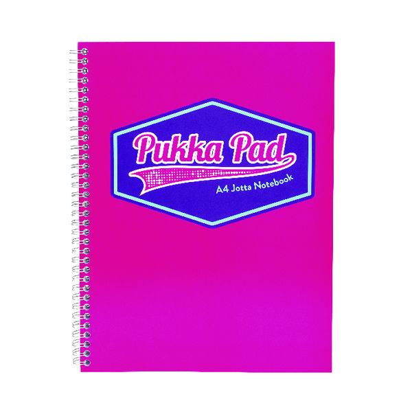 Pukka Pad Vision Wirebound Jotta Pad A4 Pink (Pack of 3) 8613-VIS