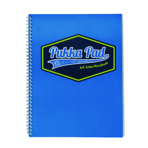 Pukka Pad Vision Wirebound Jotta Pad A4 Blue (Pack of 3) 8614-VIS