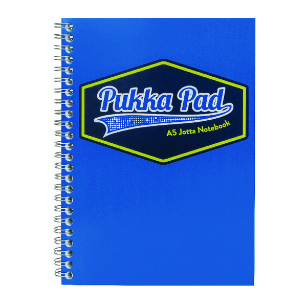 Pukka Pad Vision Wirebound Jotta Pad A5 Blue (Pack of 3) 8616-VIS