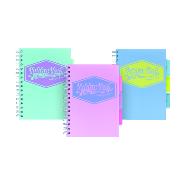Pukka Pad Pastel Project Book A5 (Pack of 3) 8631-PST