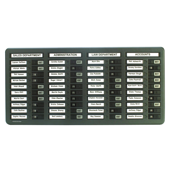 Indesign 40 Names In/Out Board Grey WPIT40I