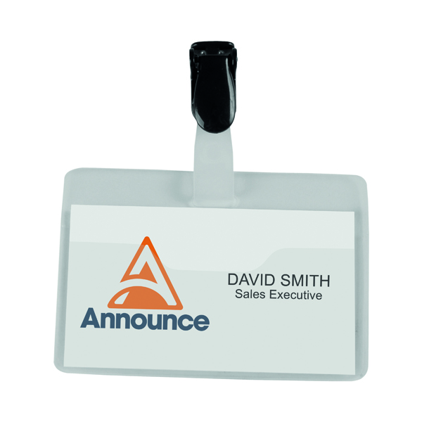 Announce Security Name Badge 60x90mm (Pack of 25) PV00922