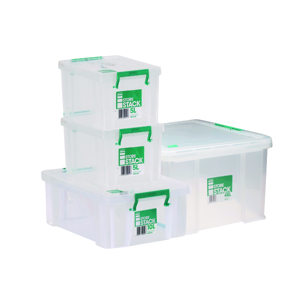 Storestack Box Bundle 2x5L 10L 48L (Pack of 4) 48LBUNDLE
