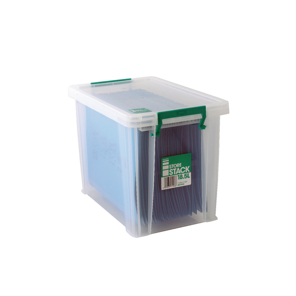 StoreStack 18.5 Litre Storage Box W400xD260xH290mm Clear RB11086
